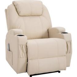 HOMCOM Massagesessel mit Wärme- und Liegefunktion 82 x 97 x 110 cm (BxTxH)   Fernsehsessel TV Sessel Relaxsessel Sessel