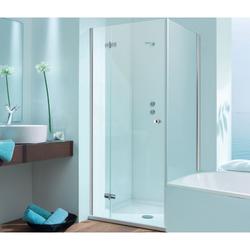 Sprinz BS-Dusche Eck- Duschkabine mit Duschtür und Festteil, verkürzte Seitenwand für Badewannenrand