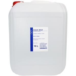 2 x Aqua Dest 10 L destilliertes Wasser Laborwasser