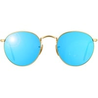 Ray Ban Round Flash RB3447 gold / blue flash