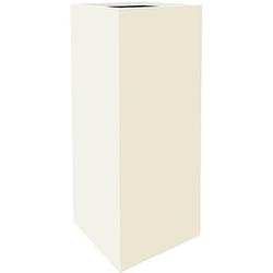fm Plant Pflanzkübel Holz 38,0 x 38,0 x 90,0 cm weiß