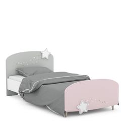 Kindermöbel 24 Bettgestell Kinderbett Sternschnuppe 90*200 cm weiß