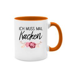 Shirtracer Tasse Ich muss mal kacken - Statement Tasse - Tasse zweifarbig - Tassen, kack tasse