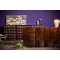 Home affaire Sideboard Array, aus massivem Mangoholz, Fronten mit ausgefallenem Profil 180 cm