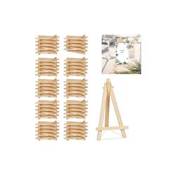 relaxdays Mini Staffelei 100 x Staffelei klein aus Holz