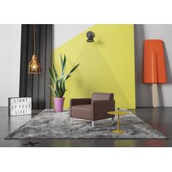 machalke® Sessel single, Ledersessel mit Metallkufen braun