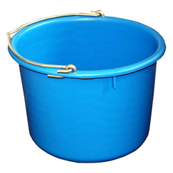 Bau-Eimer 12,0 l, Ø 32,0 cm, 'Profi', blau, Skalierung, schwer