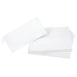 Tischkarten, weiß, 4,5 x 10 cm, 25 Stück
