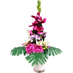 Kunstpflanze Gladiole Gladiole, I.GE.A., Höhe 65 cm