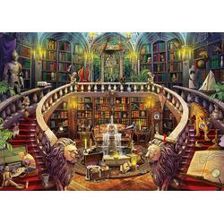 Educa Puzzle Rätsel-Puzzle Alte Bibliothek, 500 Teile, Puzzleteile