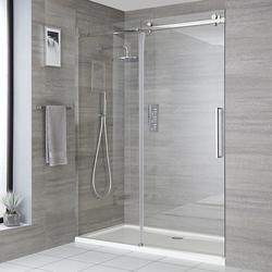 Duschschiebetür mit Duschwanne, Größe wählbar - Portland