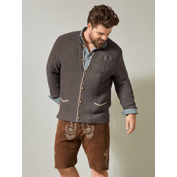 Strickjacke Men Plus Braun