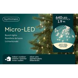Lumineo LED-Lichterkette Micro-LED 640 LED's 1,9 Meter Stränge, 5 Meter Kabel, outdoor & indoor