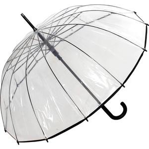 Regenschirm Damen Stockschirm 14-teilig Transparent Automatik