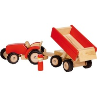 GoKi Traktor mit Anhänger rot (55942)