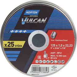 Norton Trennscheibe Dose 10x Vulcan Inox 125x1,0mm