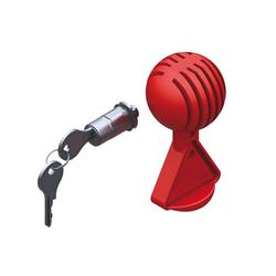 AL-KO Steckschloss mit Safety-Ball für Typ AK161/AK270 für Pkw-Anhänger