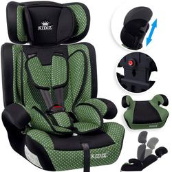 KIDIZ Autokindersitz, Kinderautositz Kindersitz Autositz Sitzschale 9 kg - 36 kg 1-12 Jahre Gruppe 1/2/3 universal zugelassen nach ECE R44/04 6 verschiedenen Farben grün