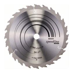 Bosch Kreissägeblatt Speedline Wood 184 x 16 x 2,2 mm 24