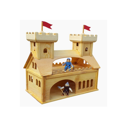 Madera Spielzeuge Spiel-Gebäude Burghaus mit Turm (1-tlg), Made in Germany