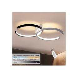 ZMH Deckenleuchte Deckenlampe 54cm 37W dimmbar mit Fernbedienung Eisen Kronleuchte für Wohnzimmer Esszimmer Schlafzimmer