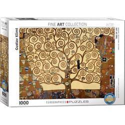 empireposter Puzzle Gustav Klimt - Der Baum des Lebens - 1000 Teile Puzzle Format 68x48 cm., 1000 Puzzleteile