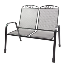 Gartenstuhl Doppelsitzer Zweisitzer Virginia Streckmetall Stapelbar bis 180kg