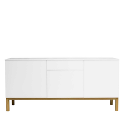 Design Sideboard in Weiß Eiche 180 cm