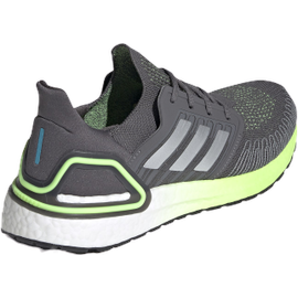adidas Ultraboost 20 M grey five/silver metallic/signal green 44