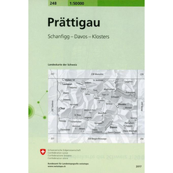 Swisstopo 1 : 50 000 Prattigau