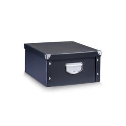 HTI-Living Aufbewahrungsbox Aufbewahrungsbox, Pappe Schwarz, Aufbewahrungsbox 40 cm x 17 cm