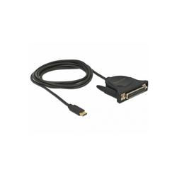 Delock USB-C 2.0 Stecker > 1x Parallel DB25 Buchse Computer-Kabel