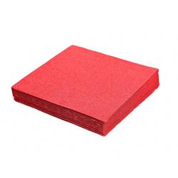 Servietten 33 x 33 cm 1/4 -Falz 3-lagig rot, 20 Stk.