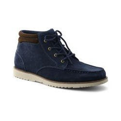 Komfort-Chukka Boots aus Leder - 44.5 - Blau