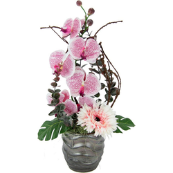 Kunstpflanze Orchidee/Gerbera, Höhe 43 cm