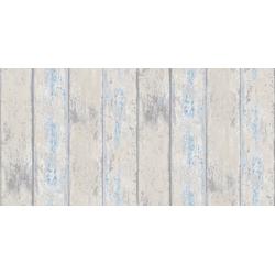 WOW Vliestapete Holz, Holz, (1 St), Grau/Blau - 10m x 52cm