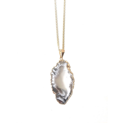 Crystal and Sage Jewelry Kette mit Anhänger Edelsteinkette Achat, Krystalldruse (2-tlg), Made in Germany