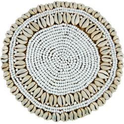 Guru-Shop Aufbewahrungsdose Exotische Korb-Schachtel mit Kauri Muschel,.. 18 cm x 11 cm x 18 cm
