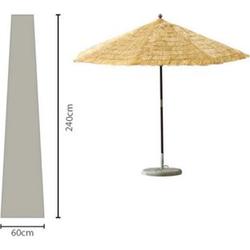 Grasekamp Sonnenschirm-Hülle 450 cm Plane Haube  Schutzhülle Weiß