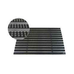 Fußmatte EMCO Eingangsmatte DIPLOMAT 22mm Bürsten grau Fußmatte Schmutzfangmatte Fußabtreter Antirutschmatte, Emco, rechteckig, Höhe 22 mm, für den Innen /- und Außenbereich 99 cm x 49 cm x 22 mm
