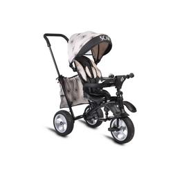 Byox Dreirad Dreirad Tricycle Scar, Dreirad klappbar Gummireifen Sitz drehbar Tasche Schiebegriff natur