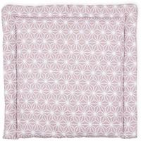 KraftKids Wickelauflage weiße Diamante auf Cameo Rosa, extra Weich (500 g/qm), mit antiallergenem Vlies gefüllt 85 cm x 75 cm
