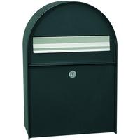 Renz MEFA Briefkasten Amber 401 (Farbe Tiefschwarz, Regenschutzüberstand, Entnahme hinten, Größe: 555x380x210 mm) 401100M