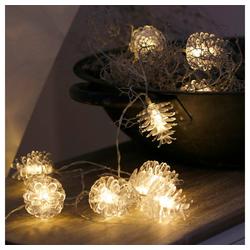 Grafelstein Lichterkette Lichterkette ZAPFEN transparente Tannenzapfen Weihnachten LED batteriebetrieben