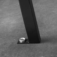 Tectake Pino 126 x 62 x 81,5 cm schwarz
