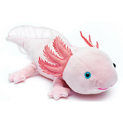 Axolotl - 32 cm (Länge) - Plüsch-Lurch, Plüschtier Kuscheltiere rosa