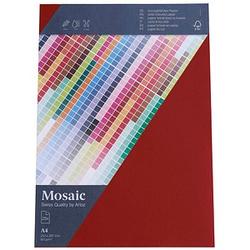 artoz Briefpapier Mosaic feuerrot DIN A4 90 g/qm 25 Blatt
