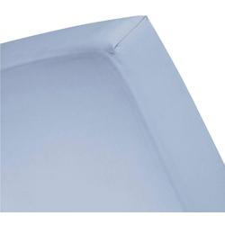 Spannbettlaken Basic, Cinderella, für Boxspringbetten blau 160 cm x 210 cm