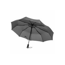 VON HEESEN Taschenregenschirm Regenschirm mit Auf-Zu-Automatik grau