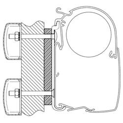 Adapter-Set Dethleffs Globebus für Thule Omnistor Serie 5